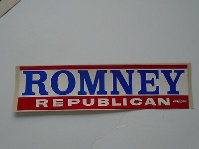 Lot of 2 VTG George Romney for Michigan Governor Bumper Sticker*Republican Party