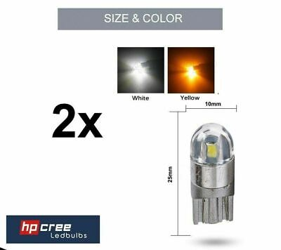 2x NEW LED UPGRADE T10 501 W5W 3030SMD 2 LED CANBUS WHITE SIDELIGHT BULBS