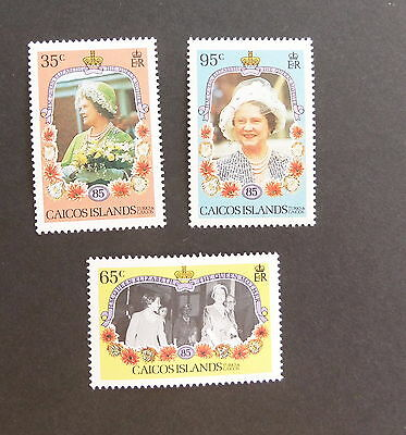 Caicos Islands 1985 Queen Mother's 85th Birthday MNH UM unmounted mint