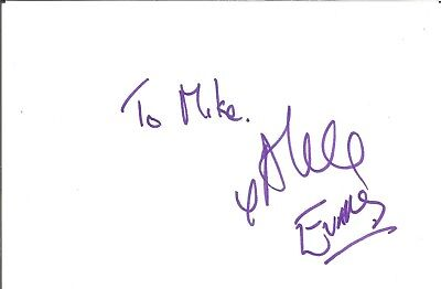 Alexander Evans actor signed white card dedicated in person autograph Z3686