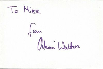Octavia Walters actress signed white card dedicated in person autograph Z3716