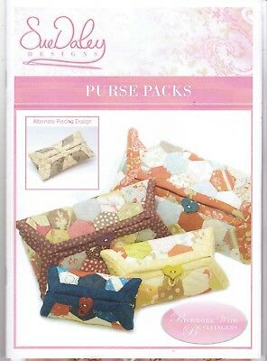 Sue Daley PURSE PACKS EPP English Paper Piecing mit pre-cut papers incl. Stoff