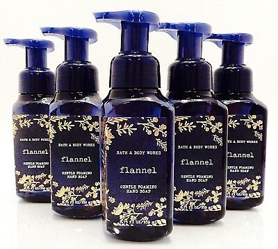 5 BATH & BODY WORKS FLANNEL GENTLE FOAMING HAND SOAP 8.75oz NEW