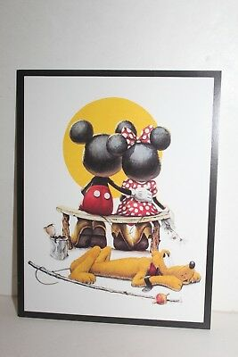 Art Of Disney -PUPPY LOVE  Mickey & Minnie Mouse Disney Postcard Charles Boyer