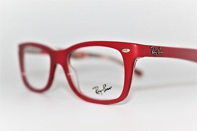 7007556e993ec NEW AUTHENTIC RAY-BAN Rb 5228 5406 Red Frames Eyeglasses 50Mm Rb5228 ...