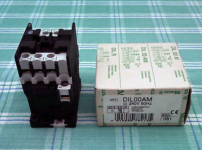 (Eaton) Moeller DIL00AM 240V 50Hz 5.5kw 3 Pole Contactor - Brand New in Box