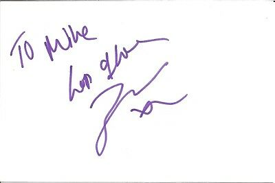 Zara Warren actress signed white card dedicated in person autograph Z3722
