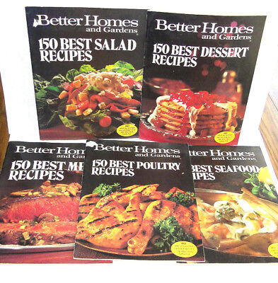 Vtg Lot of BETTER HOMES AND GARDENS COOKBOOK Recipe Books Magazines 1970's