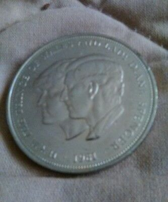 Wedding Coin Princess Diana, Prince Charles 1981 Real Money Perfect free us shp