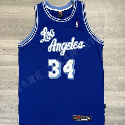 0530d89cc7b Nba Jersey Los Angeles Lakers Shaquille O'neal Nike Authentic Sz 52 Vtg  Lebron