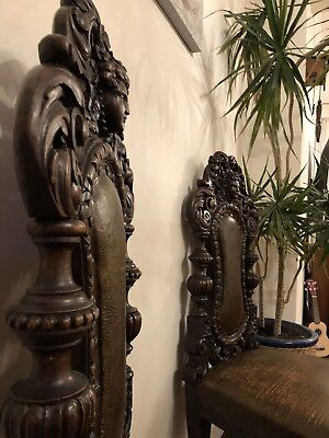 Bueatiful Antique Carved Hanmade Oak Chairs