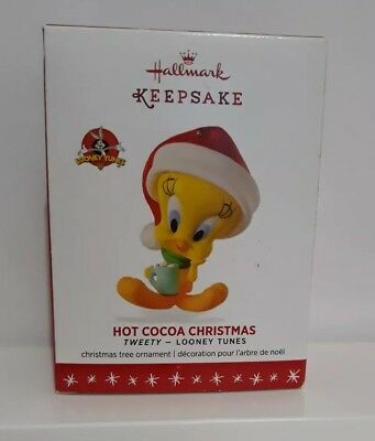 Hallmark Keepsake 2016 Tweety Bird Hot Cocoa Christmas Ornament #QXI3021 NEW