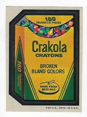 1973 Topps Wacky Packages 3rd Series 3 CRAKOLA CRAYONS nm- centered