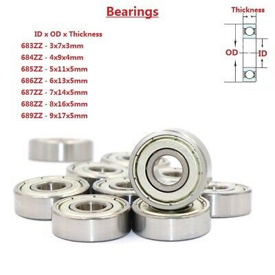 Shielded Deep Groove Ball Bearings 683 684 685 686 687 688 689ZZ Bearing Steel