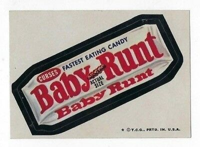 1974 Topps Wacky Packages 6th Series 6 BABY RUNT CANDY nm-