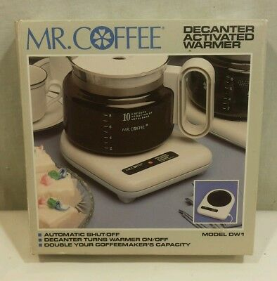 MR Coffee Decanter Activated Carafe Warmer DW1 - Auto Shut-off - NOS NEW