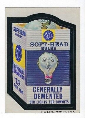1974 Topps Wacky Packages 6th Series 6 SOFT-HEAD BULBS nm- o/c