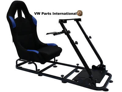 Car Race Gaming Racing Sim Frame Chair Bucket Seat PC PS4 XBox PS3 Black/Blue
