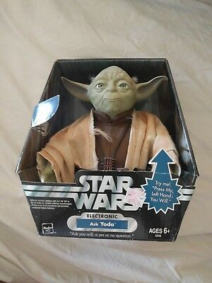 Star Wars original trilogy collection electronic Ask Yoda new working 2004