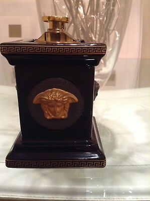 Rosenthal Versace Authentic Black And Gold Table Lighter