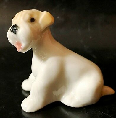 Sealyham Terrier dog puppy porcelain figurine tiny figure from Russia