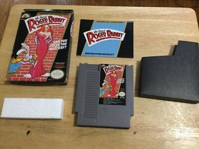 Who Framed Roger Rabbit (Original Nintendo, 1989) ~COMPLETE IN BOX~ [FREE SHIP]