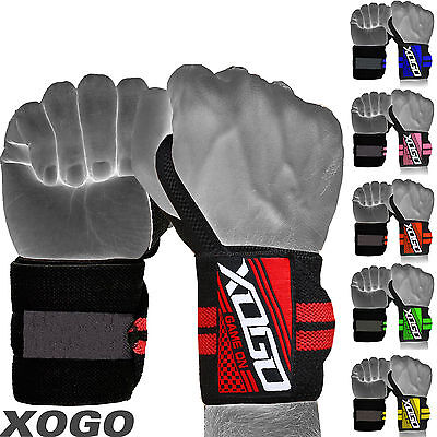 XOGO - Weight Lifting Wrist Wraps Bandage Hand Support Brace Gym Straps Cotton