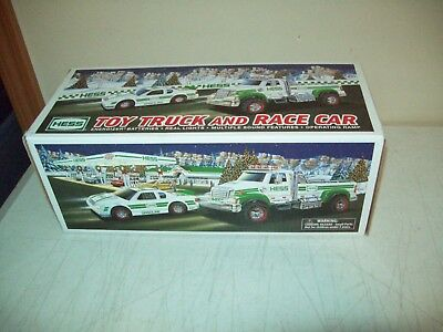 2011 Hess toy Truck & race car Brand New with box & inserts Working mint
