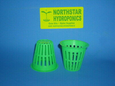 "2 "" inch HEAVY DUTY NET CUP POT HYDROPONIC CLONE GROW KIT DURABLE 6 count"