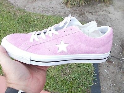 453e682b1e9d44 Converse ONE STAR OX SUEDE LIGHT ORCHARD PINK 159492C SIZE 11 MEN S