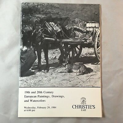 Christies East 19th 20th Century European Paintings Drawings and Watercolors1984