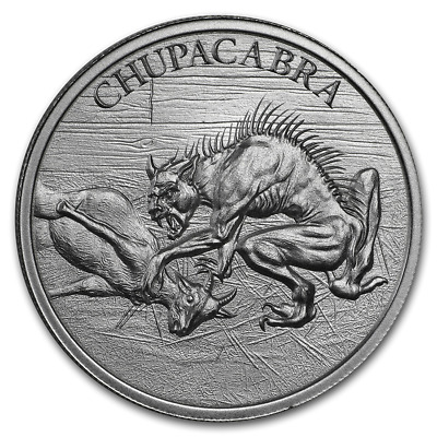 Chupacabra (Goat Sucker) The Vampire Beast 1 oz .999 Silver USA BU Round Coin