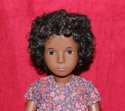 """16"""" Vintage 118 Sasha Doll Cora In Flower Dress,Box And Tag,Made In England."""