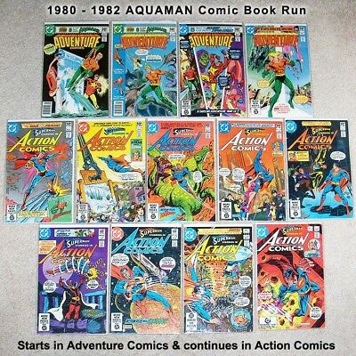 AQUAMAN 1980-1992, COMPLETE FULL RUN, 39 DC Bronze & Copper Age Comic Books