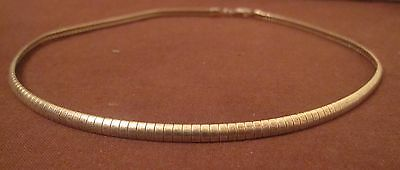 big vintage articulated link sterling silver Italian women reversible necklace
