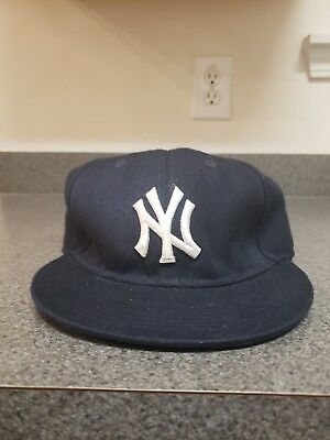 5f2479756218b ... usa new era 59fifty mlb cap new york yankees navy blue fitted hat vtg  vintage 51d66