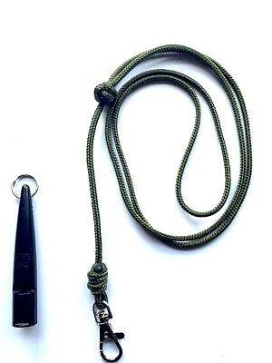ACME 210.5 Gundog Whistle & Green Turks Head Knot Lanyard **SPECIAL OFFER**