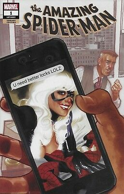 Marvel The Amazing Spider-Man #1 Black Cat Variant Cover A Adam Hughes Comic ASM