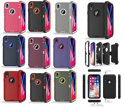 or Apple iPhone X/XR/XS/XS MAX Shockproof Case Clip Fits Otterbox Defender