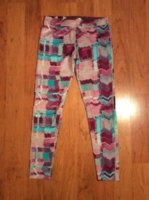 Under Armour Pants Girls Youth Leggings Athletic Multicolor Size YXL