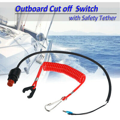 Outboard Cut off Boat Motor Emergency Kill Stop Switch&Safety Tether For Yamaha