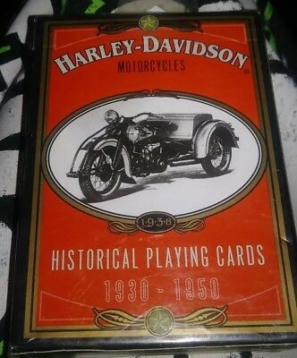 Harley Davidson Motorcycles Historical Playing Cards 1930-1950 Sealed