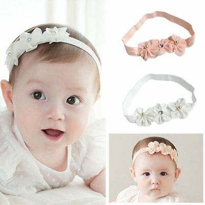 Infant Baby Girl Lace Bow Tie Floral Hair Band Kids Party Wedding Cute Headband