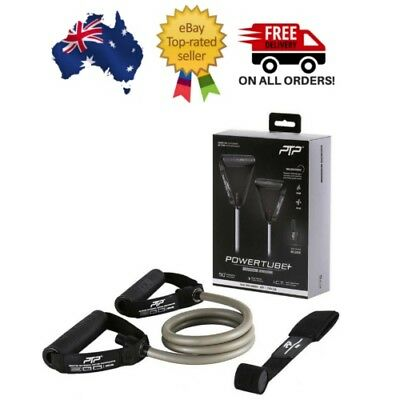 PTP PowerTube+ Ultimate Resistance Band Black and Silver Gym Fitness Training