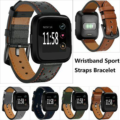 5 color Wristband Sport Straps Bracelet for Fitbit Versa Smart Watch Leather New
