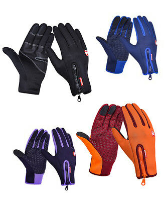 Mens Cycling Ski Warm Gloves Winter Bike Sports Bicycle Full Finger Gloves Softs