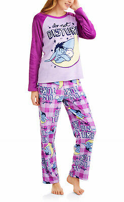 Eeyore Pajamas Womens Size Medium Plus 2X 3X Fleece Set Winnie The Pooh Bear  NEW 7b82ca1a98cb