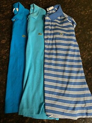 LACOSTE Lot of 3 Men's Short Sleeve Tee / Polo Shirts US Large L / EUR 5