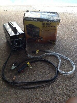 Chicago Electric 90 AMP AC Flux Wire Welder , 120v 20 Amp Single Phase Input