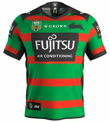 South Sydney Rabbitohs 2018 Home Jersey Sizes S - 3XL NRL CROWN ISC SALE